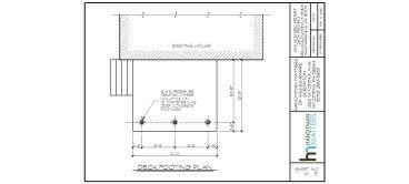 Deck Installation Design Footing Plan