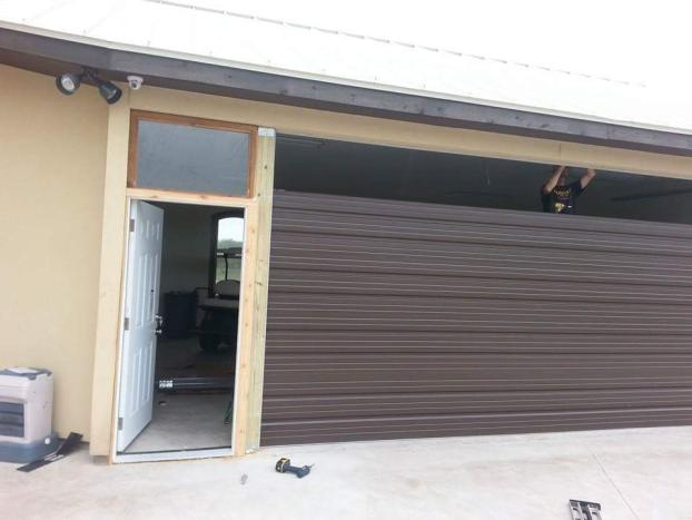 garage door opener repair. A Recent Garage Door Installation Job In The Corpus Christi, Opener Repair