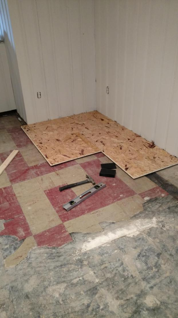 Basement Remodel - Winchester (During)