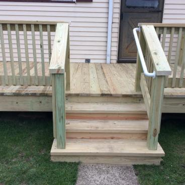After Photo of Deck Stair Installation in Pittston