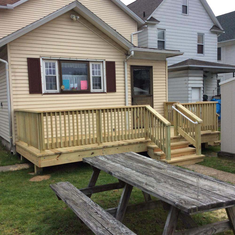 After Photo of Our Deck Installation in Pittston