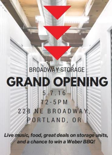 Broadway Storage - Grand Opening Window Graphic