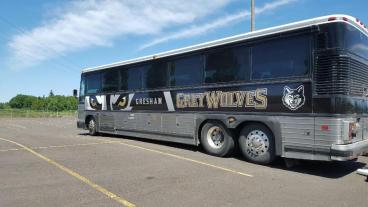 Sports Enterprises, Inc. - Gresham Grey Wolves Bus Wrap