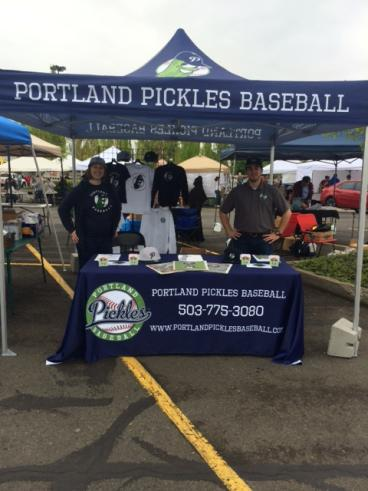 Portland Pickles Baseball Event Tent and Table Throw