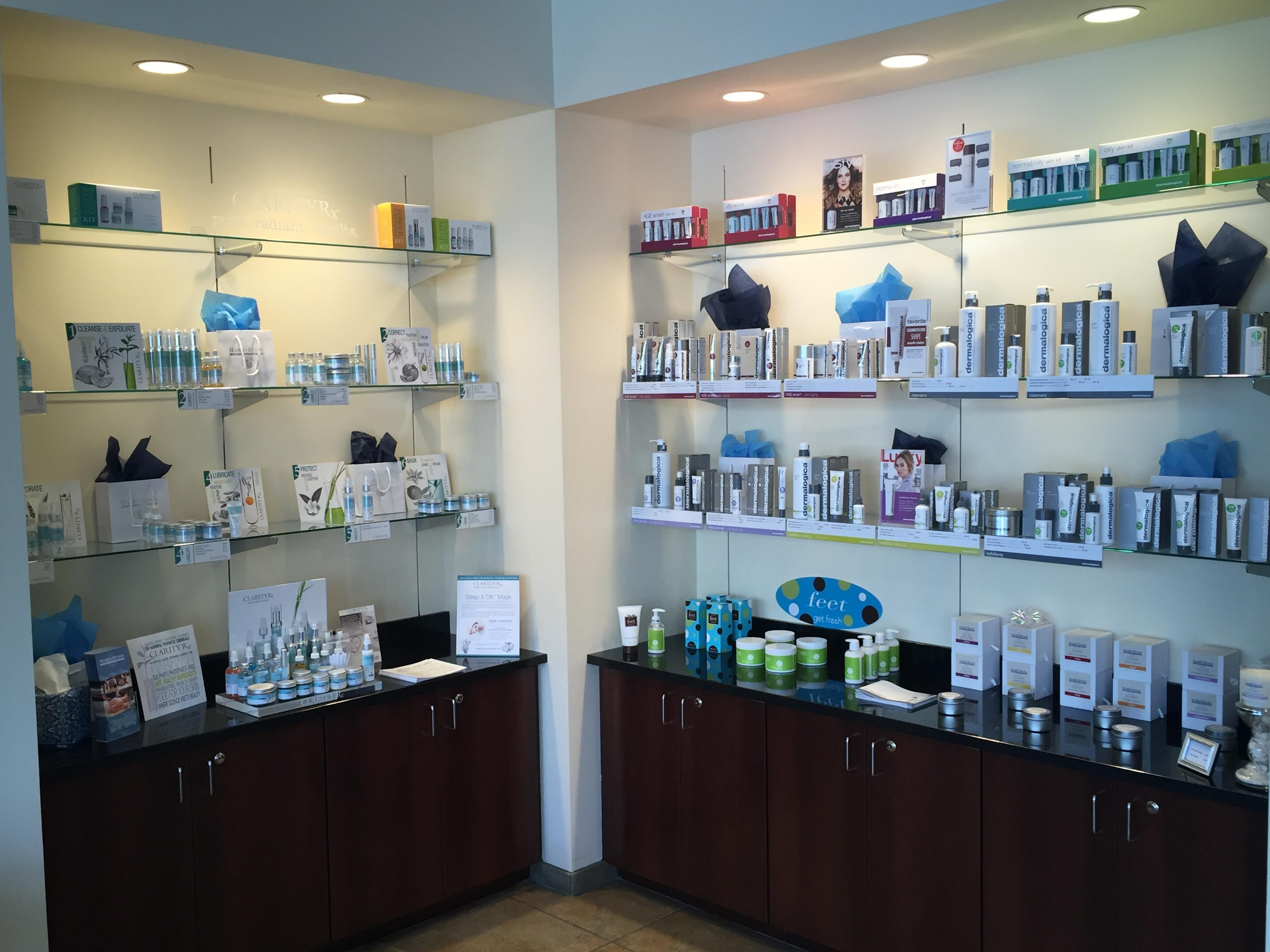 Our great skin care products from Clarity RX and Dermalogica