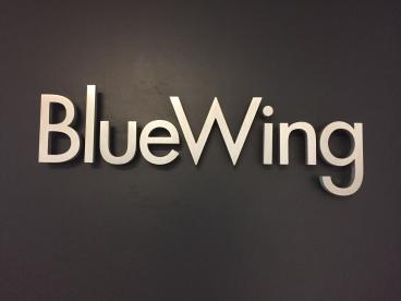 Wall-Mounted Lettering - Blue Wing