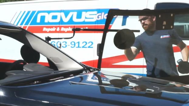 Installing New Windshield with Buddy Tool Assistance