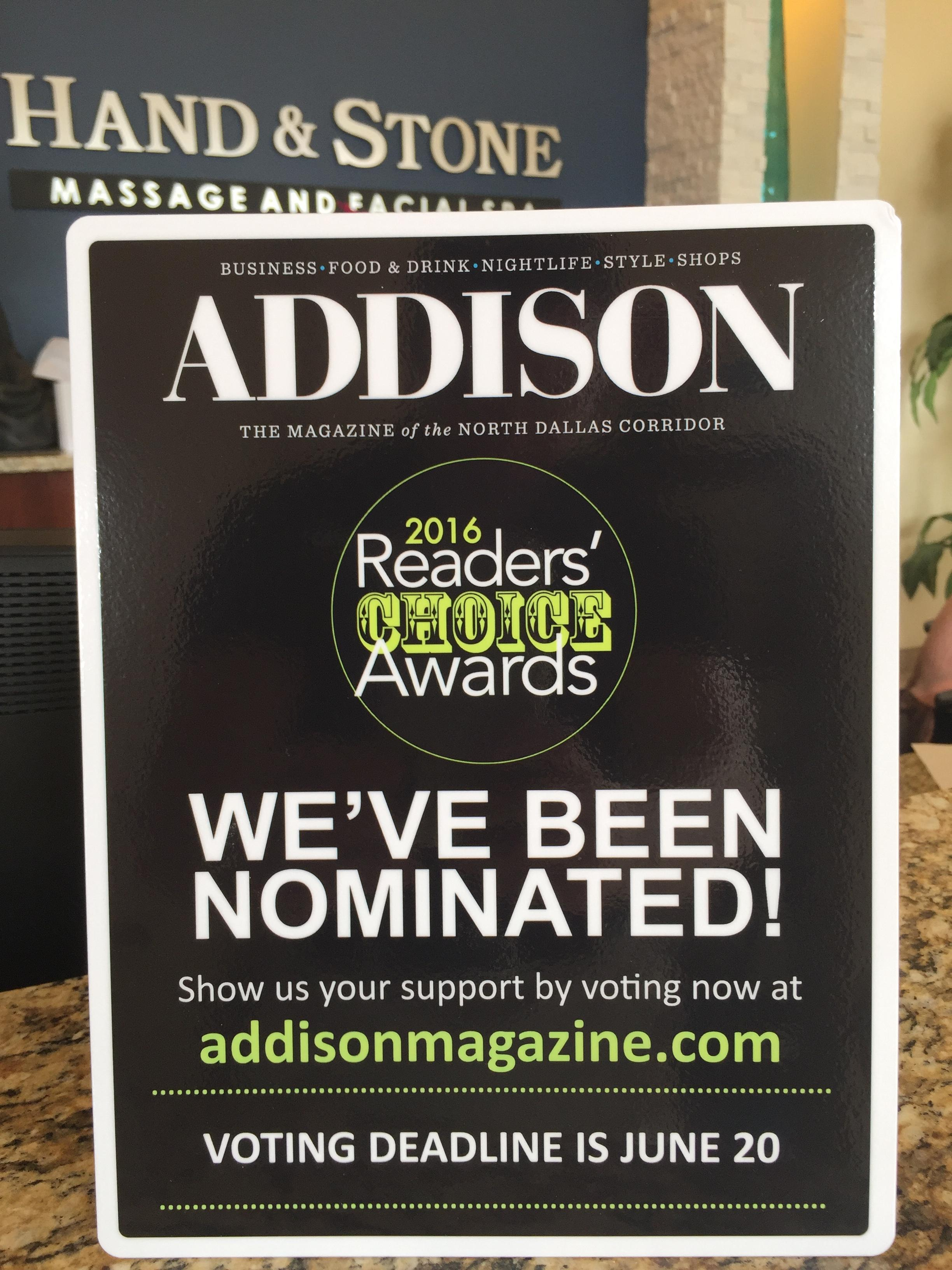 Addison Magazine Readers' Choice Awards