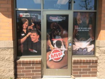 Sport Clips new window graphics
