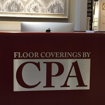 Floorings by CPA - silver cut vinyl INDOOR SIGNAGE DENVER, CO