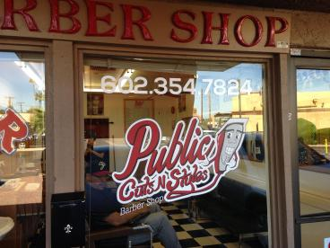 Barbershop Door Graphics