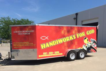 18' Trailer Complete Vehicle Wrap in Dayton Ohio