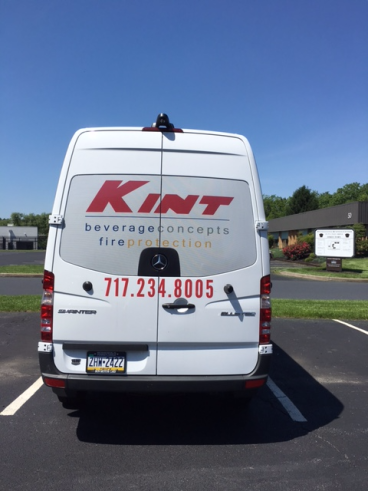 Truck decals with window perf done for Kint