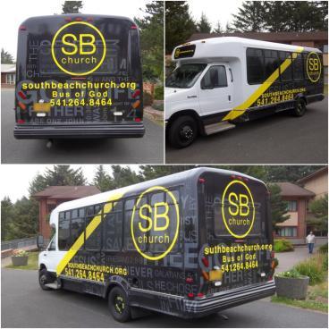 South Beach Church Bus Wrap - Fleet Wrap