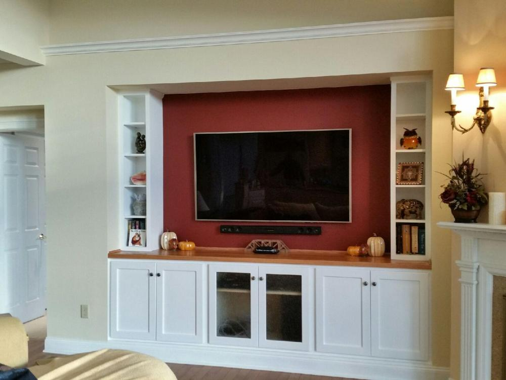 After photo of custom cabinetry unit created and installed in Upper St. Clair, PA