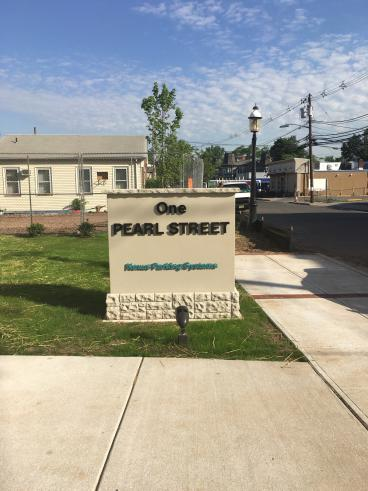 One Pearl St Monument Sign Metuchen NJ