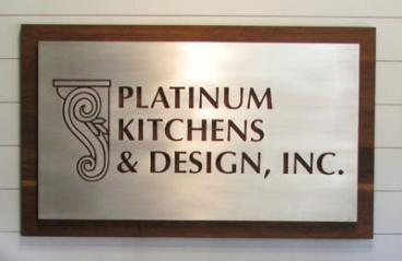 Platinum Kitchens Lobby Signage