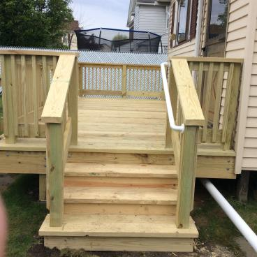 Deck Steps in Pittston