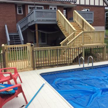 After Photo of Deck Step Installation in Harding