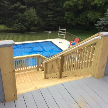 Deck Step Build in Harding
