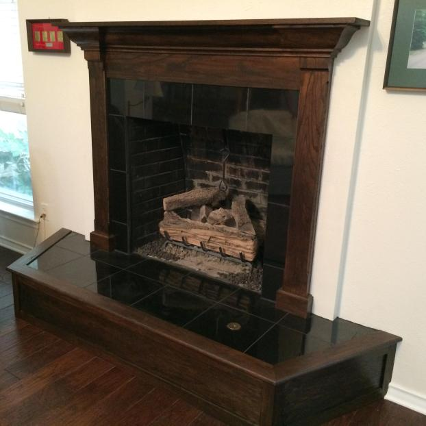 Fireplace Mantle, Tile, and Hearth #2
