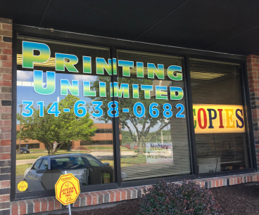 Recently installed window graphics!