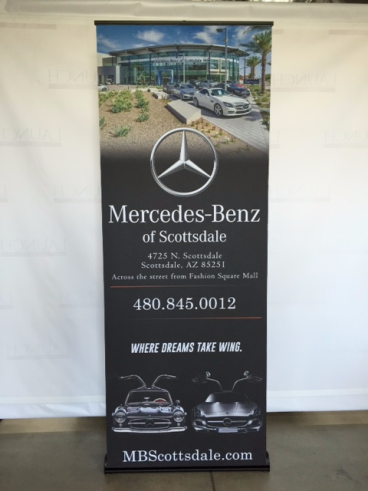 Banner Stand with Decolit Fabric