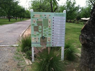 Directional Sign with Map